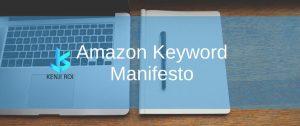 Amazon Keyword Manifesto