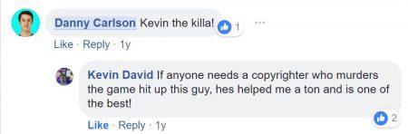 Facebook Testimonial - Kevin David