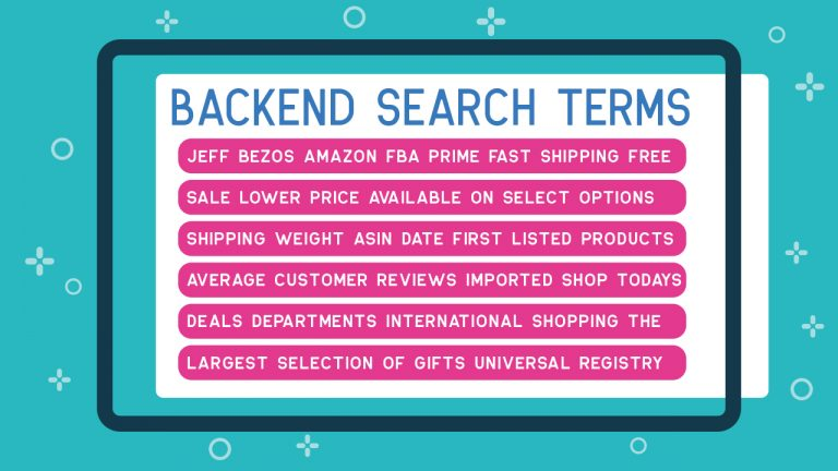 Amazon Backend Search Terms
