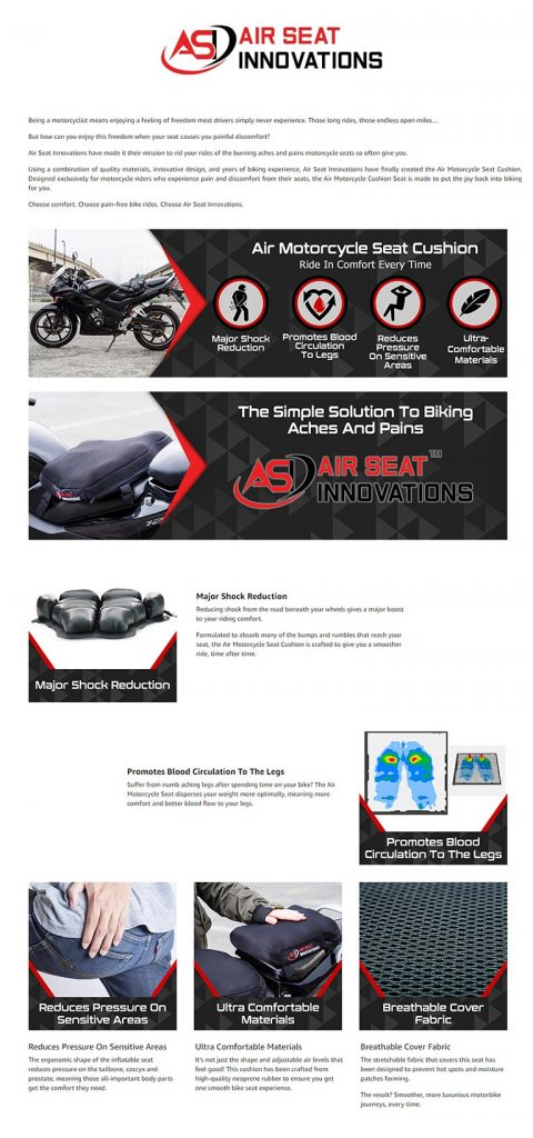 Amazon A Plus EBC - Air Motorcycle Seat Cushion