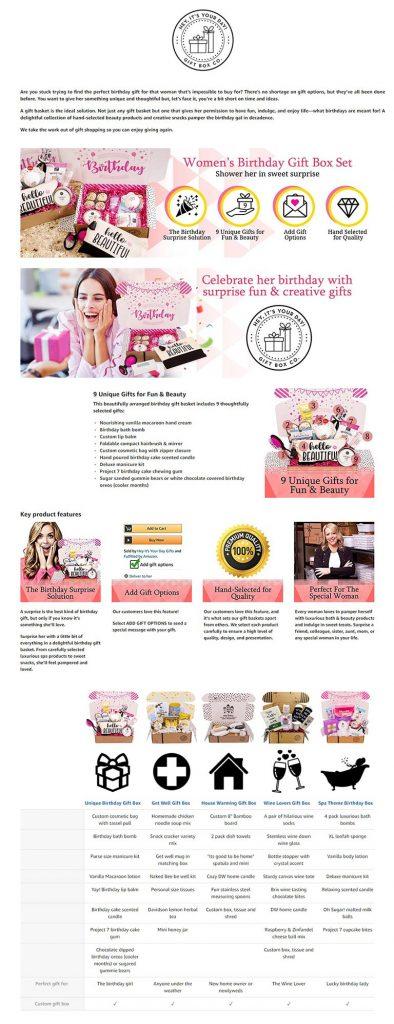 Amazon A Plus EBC - Womens Birthday Gift Box Set