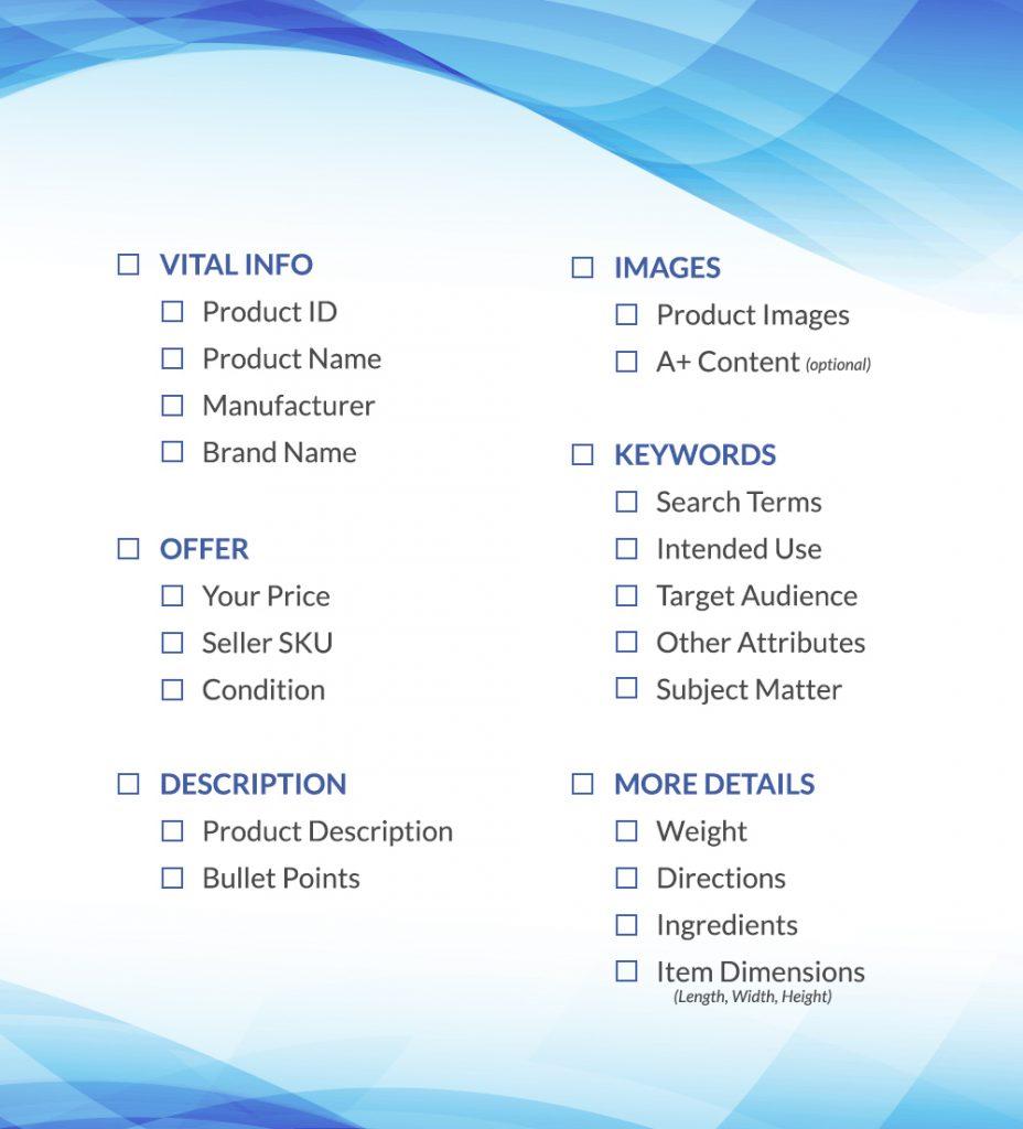 amazon listing checklist