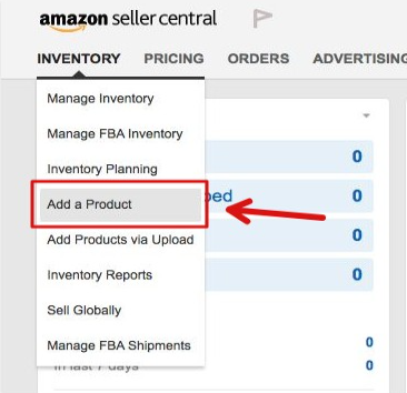 amazon listing add a product