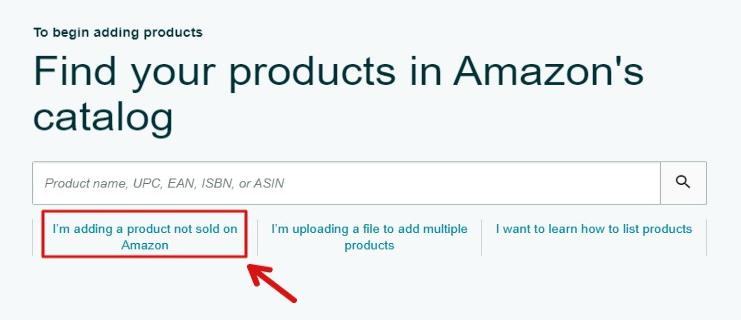 amazon listing adding new product not sold on amazon