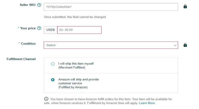 amazon listing offer tab