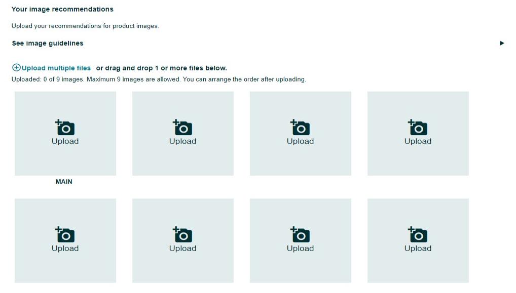 amazon listing uploading images